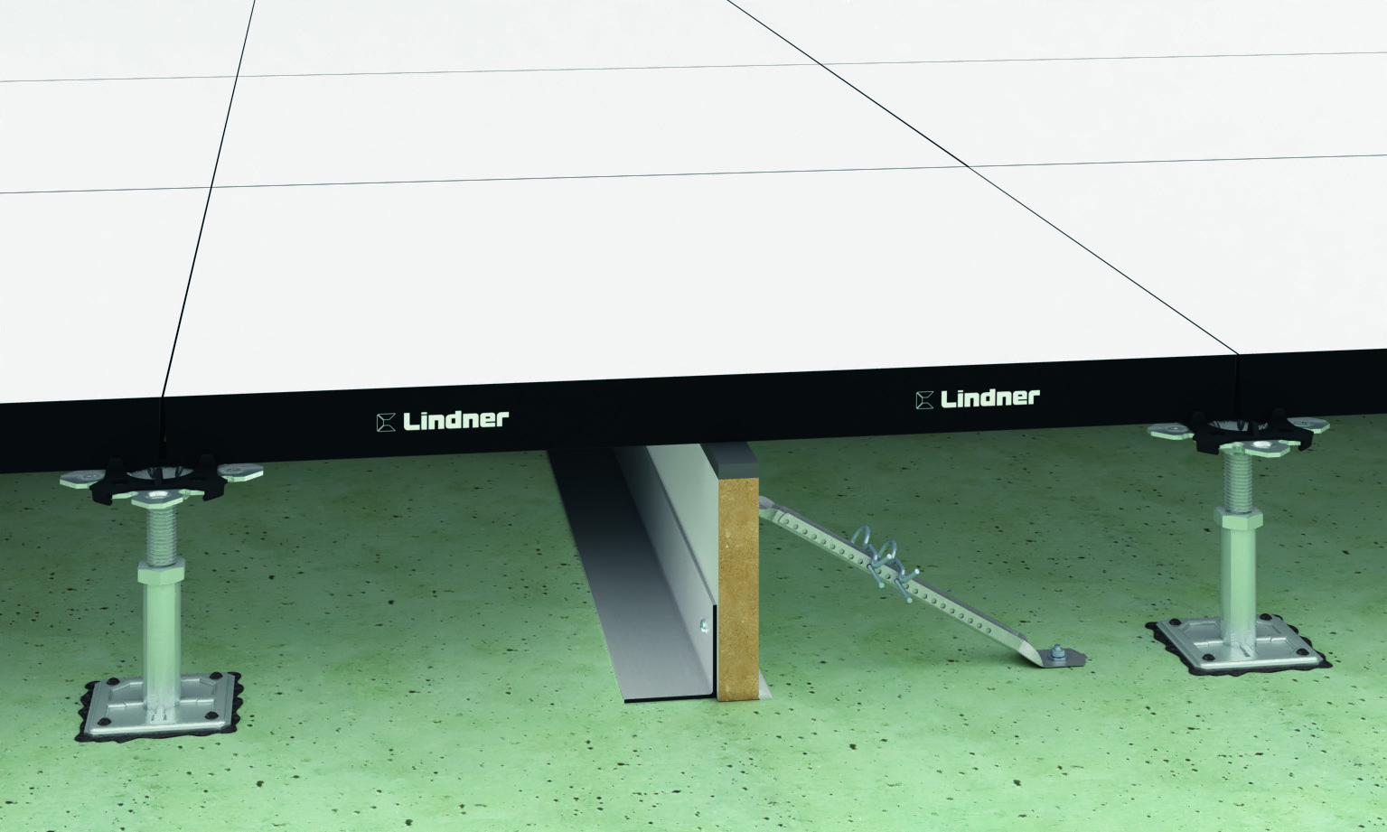 The technology of mounting sheets of flooring profiled