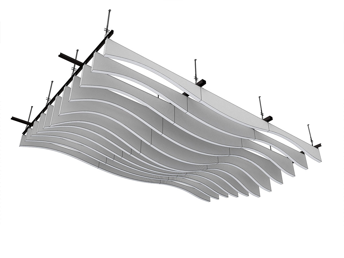 Metal Baffle Ceiling In Wavelike Design LMD L LAOLA