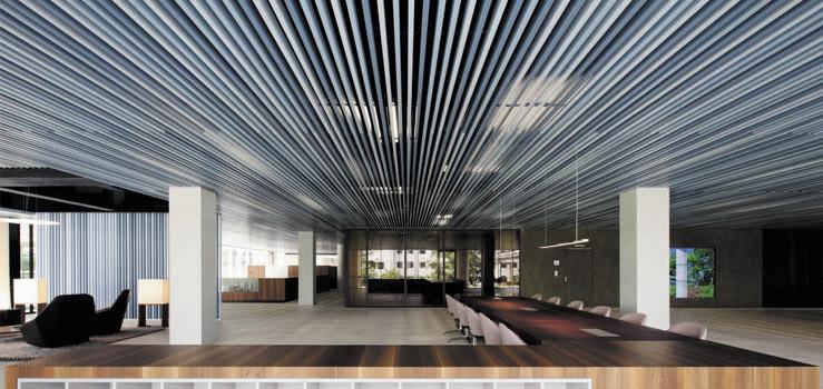Baffle ceilings lindner group